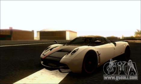 Pagani Huayra Cinque for GTA San Andreas back view