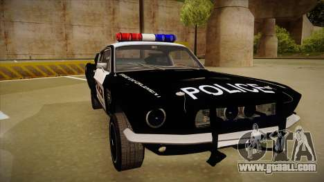 Shelby Mustang GT500 Eleanor Police for GTA San Andreas left view