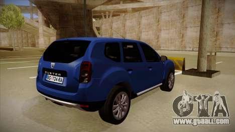 Dacia Duster SUV 4x4 for GTA San Andreas right view