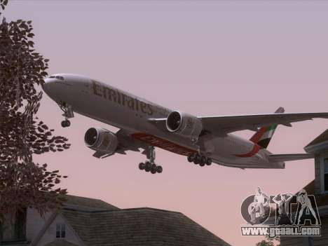 Boeing 777-21HLR Emirates for GTA San Andreas wheels