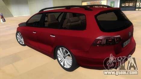 Volkswagen Passat B7 2012 for GTA Vice City left view