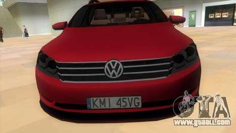Volkswagen Passat B7 2012 for GTA Vice City back left view