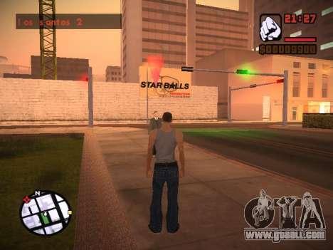 New menu and a new font for GTA San Andreas eleventh screenshot