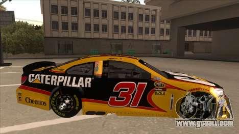 Chevrolet SS NASCAR No. 31 Caterpillar for GTA San Andreas back left view
