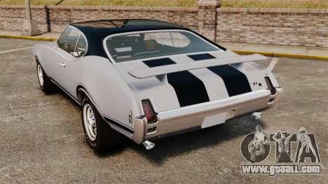 Oldsmobile Cutlass Hurst 442 1969 v2 for GTA 4 back left view