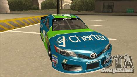 Toyota Camry NASCAR No. 47 Charter for GTA San Andreas left view