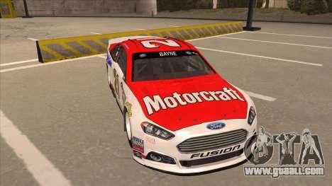 Ford Fusion NASCAR No. 21 Motorcraft Quick Lane for GTA San Andreas left view