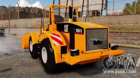 Front wheel loader Caterpillar 966 g for GTA 4 back left view