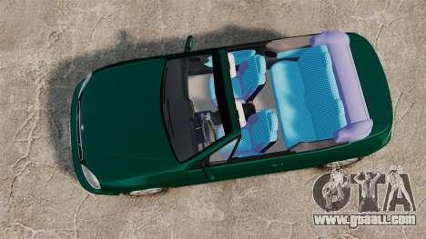 Daewoo Lanos 1997 Cabriolet Concept v2 for GTA 4 right view