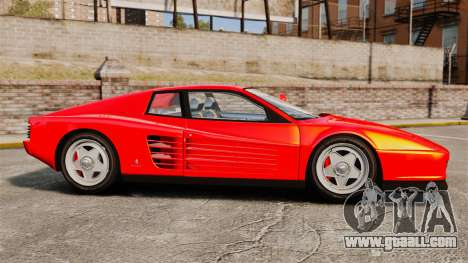 Ferrari Testarossa 1986 for GTA 4 left view