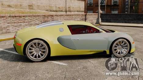 Bugatti Veyron Gold Centenaire 2009 for GTA 4 left view