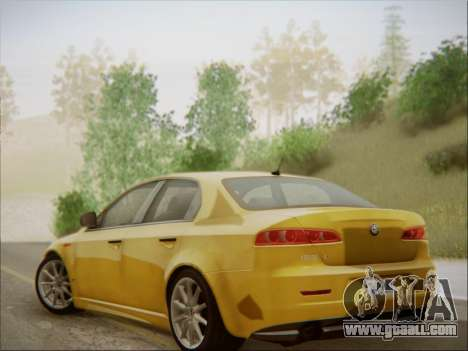 Alfa Romeo 159 Sedan for GTA San Andreas back view
