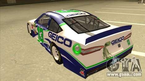 Ford Fusion NASCAR No. 13 GEICO for GTA San Andreas back view