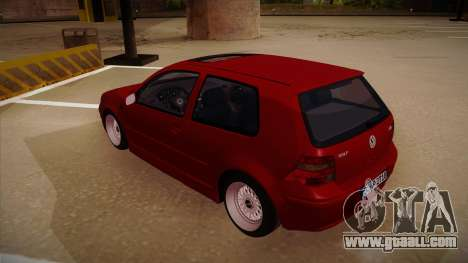 Volkswagen Golf Mk4 Euro for GTA San Andreas back view