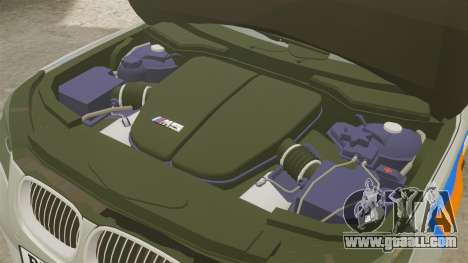 BMW M5 E60 Metropolitan Police 2006 ARV [ELS] for GTA 4 inner view
