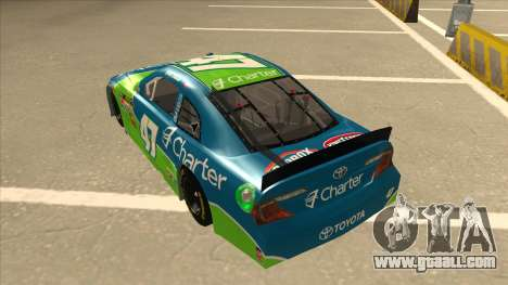 Toyota Camry NASCAR No. 47 Charter for GTA San Andreas back view
