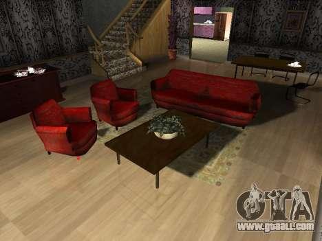 New interior 2-storeyed building CJ for GTA San Andreas fifth screenshot