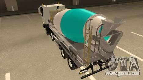 Hi-Land Concrete Mixer Truck Iveco for GTA San Andreas right view