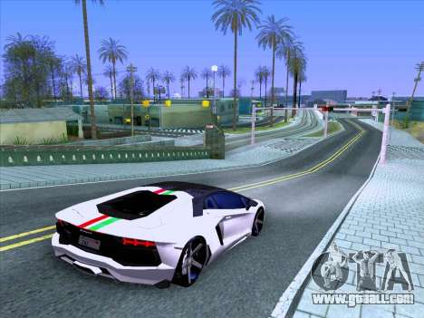 Lamborghini Aventador LP700-4 Vossen 2012 V2.0 F for GTA San Andreas side view