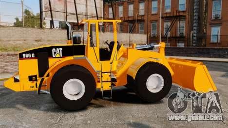 Front wheel loader Caterpillar 966 g for GTA 4 left view