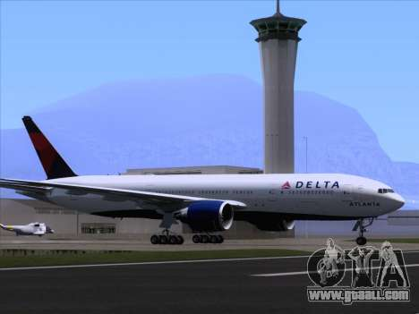 Boeing 777-200ER Delta Air Lines for GTA San Andreas wheels