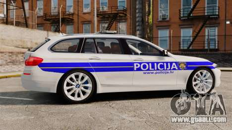 BMW M5 Touring Croatian Police [ELS] for GTA 4 left view