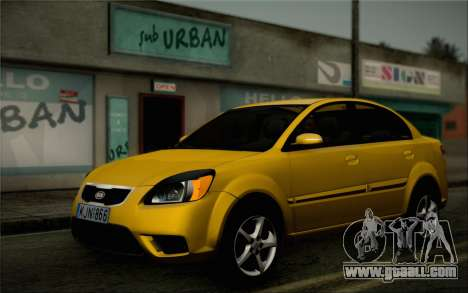Kia Rio II 2009 for GTA San Andreas left view