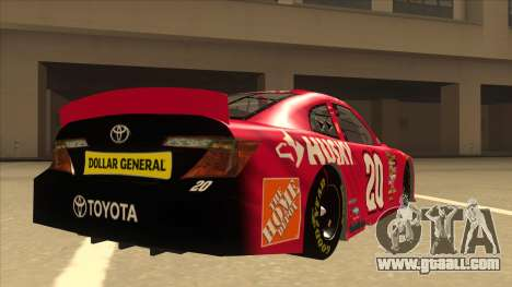 Toyota Camry NASCAR No. 20 Husky for GTA San Andreas right view