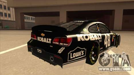 Chevrolet SS NASCAR No. 48 Kobalt Tools for GTA San Andreas right view