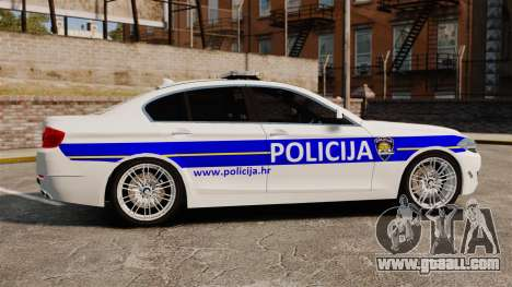 BMW M5 Croatian Police [ELS] for GTA 4 left view