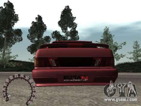 VAZ 2115 BPAN for GTA San Andreas back view