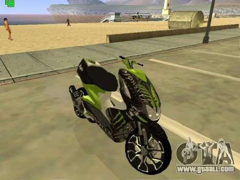 Yamaha Aerox for GTA San Andreas