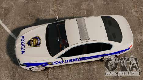 BMW M5 Croatian Police [ELS] for GTA 4 right view