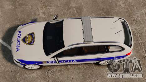 BMW M5 Touring Croatian Police [ELS] for GTA 4 right view