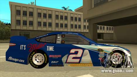 Ford Fusion NASCAR No. 2 Miller Lite for GTA San Andreas back left view