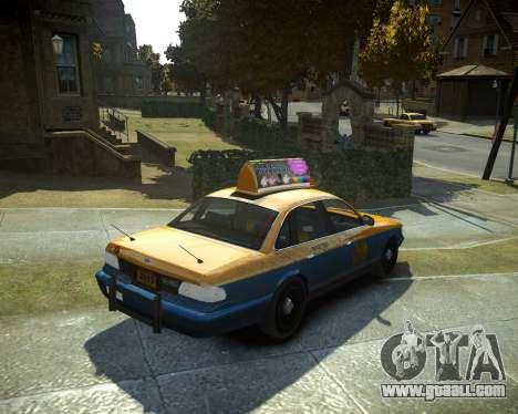 GTA V Taxi for GTA 4 left view