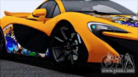 McLaren P1 2014 for GTA San Andreas wheels