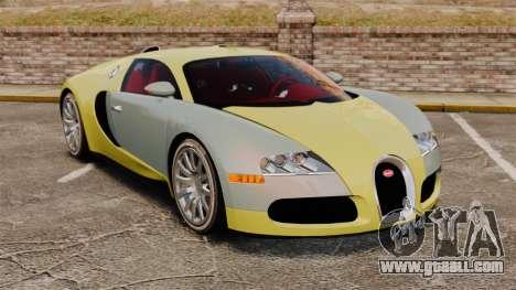 Bugatti Veyron Gold Centenaire 2009 for GTA 4