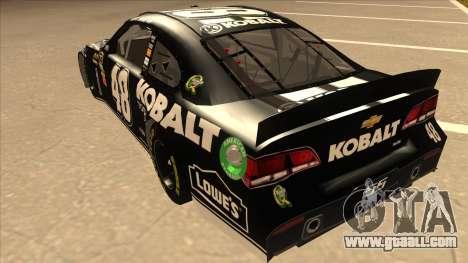 Chevrolet SS NASCAR No. 48 Kobalt Tools for GTA San Andreas back view