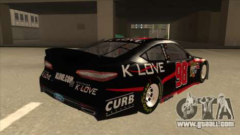 Ford Fusion NASCAR No. 98 K-LOVE for GTA San Andreas right view