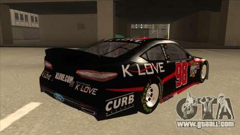 Ford Fusion NASCAR No. 98 K-LOVE for GTA San Andreas right view