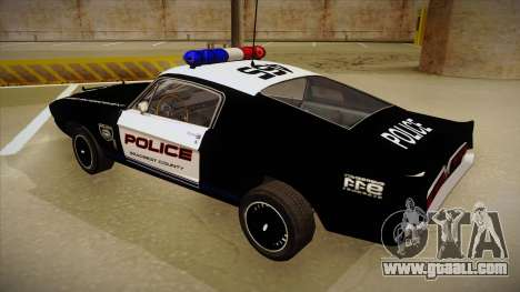 Shelby Mustang GT500 Eleanor Police for GTA San Andreas back view