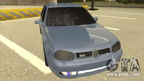 Volkswagen Golf MK4 Gti Eurolook for GTA San Andreas left view