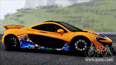 McLaren P1 2014 for GTA San Andreas interior