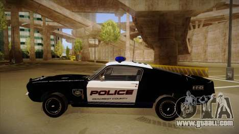 Shelby Mustang GT500 Eleanor Police for GTA San Andreas back left view