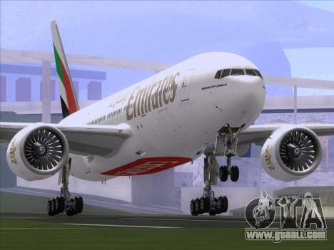 Boeing 777-21HLR Emirates for GTA San Andreas