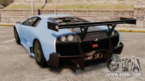 Lamborghini Murcielago RSV FIA GT1 v3.0 for GTA 4 back left view