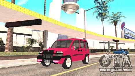 Fiat Doblo for GTA San Andreas back left view