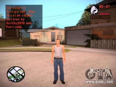 New menu and a new font for GTA San Andreas ninth screenshot