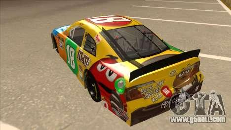 Toyota Camry NASCAR No. 18 MandMs for GTA San Andreas back view